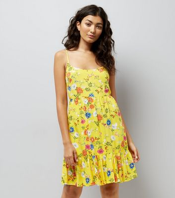 Yellow Floral Print Sundress