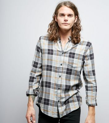 Black Contrast Check Print Shirt
