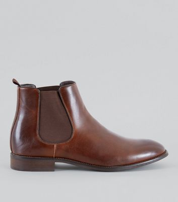 Brown Elasticated Side Chelsea Boots