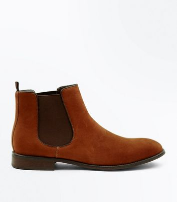 Rust Suedette Chelsea Boots