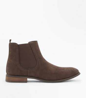 Brown Suedette Chelsea Boots