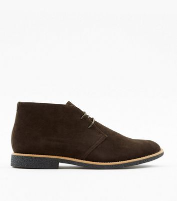 Dark Brown Suedette Desert Boots
