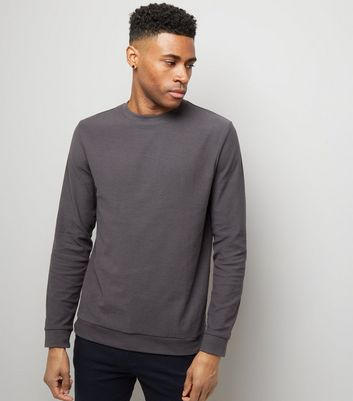 Dark Grey Crew Neck Sweatshirt