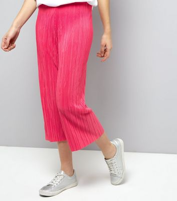 Pink Pleated Culottes