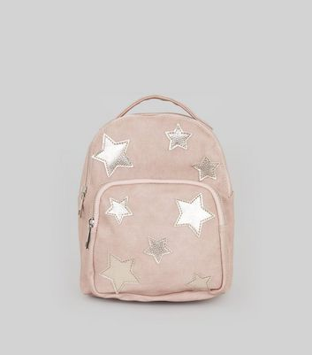 Pink Star Applique Mini Backpack