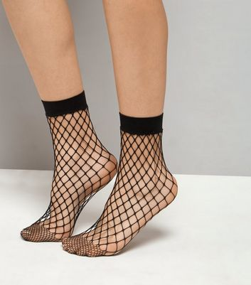 Black Oversized Fishnet Socks