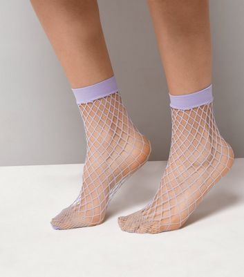 Lilac Oversized Fishnet Socks
