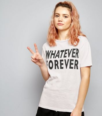 Pink Whatever Forever Print T-Shirt