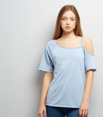 Blue Asymmetric One Shoulder Top