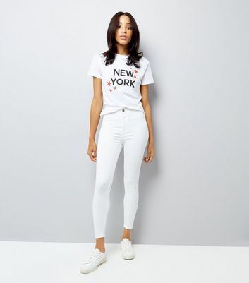 White High Waist Super Skinny Hallie Jeans