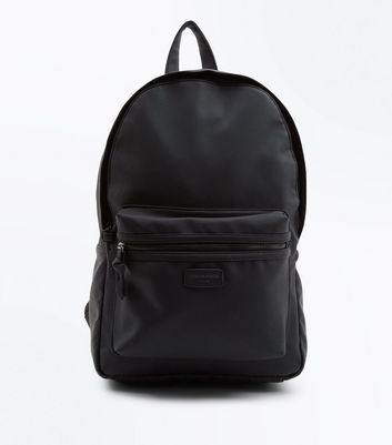 Black Leather-Look London Design Backpack