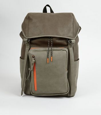 Grey Contrast Trim Backpack