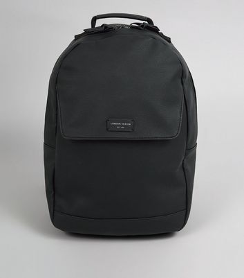 Black Flat Front Backpack