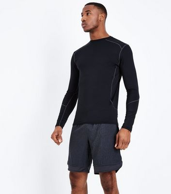 Black Hem Insert Running Shorts