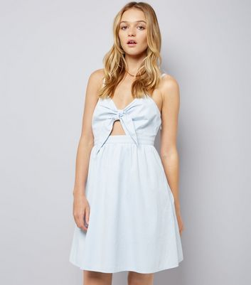 Pale Blue Bow Front Sundress