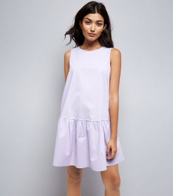 Lilac Drop Peplum Hem Dress