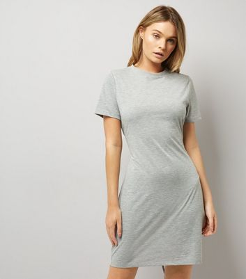 Grey Corset T-Shirt Dress