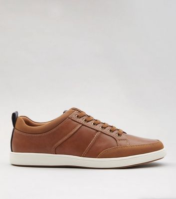 Tan Lace Up Trainers