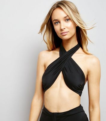Black Multi Way Tie Bikini Top