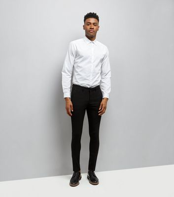 Black Super Skinny Tailored Trousers