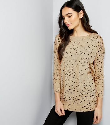 Mela Cream Bird Print Jumper