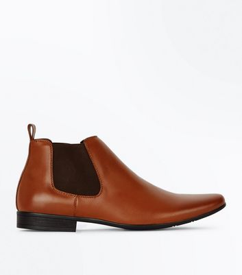 Hellbraune Chelsea-Boots