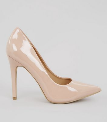 Nude Patent Pointed Court Heels