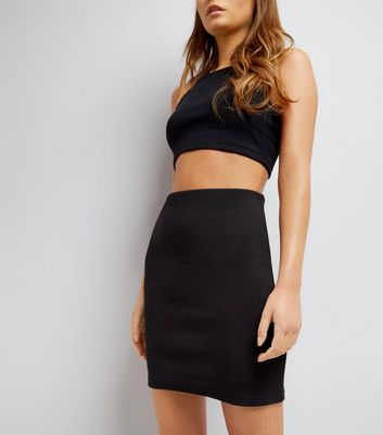 Black Mini Tube Skirt