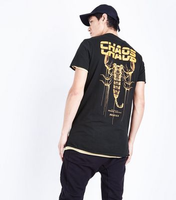 Black Chaos Back Print T-Shirt