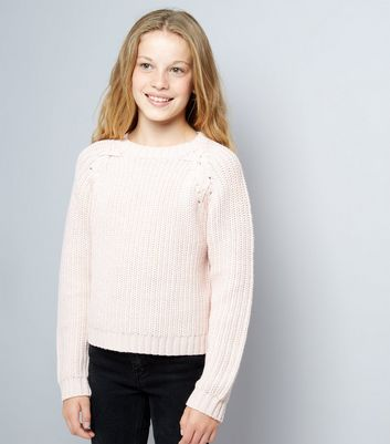 Pink Cross Front Knit Jumper