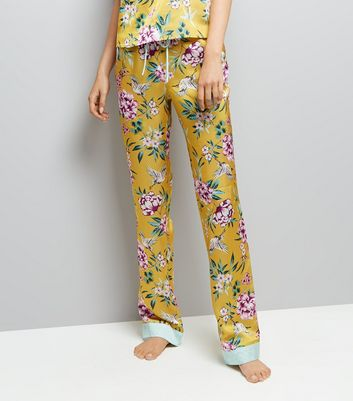 Tall Yellow Floral Print Pyjama Trousers