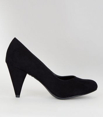 Wide Fit Suedette Kitten Heels
