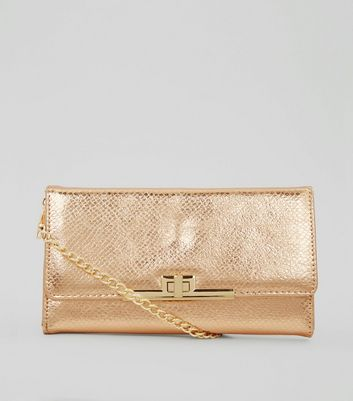 Rose Gold Pearly Purse Clutch