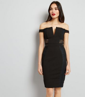 Parisian Black Cut Out Sides Bodycon Dress