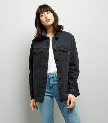 JDY Black Oversize Denim Jacket
