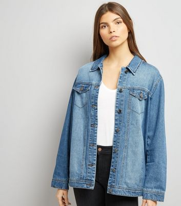 JDY Blue Oversize Denim Jacket