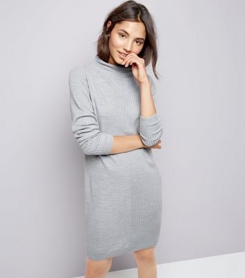 JDY Grey Ribbed Jumper Dress