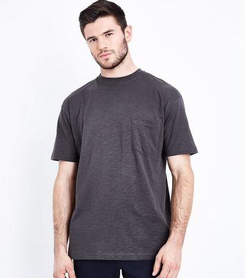Dark Grey Pocket Front T-Shirt