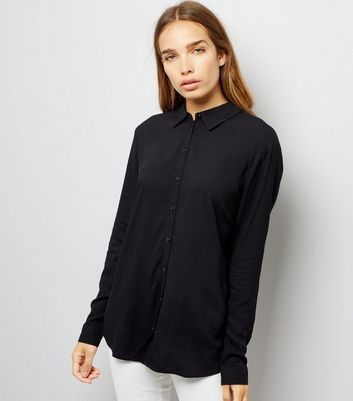 JDY Black Open Back Shirt