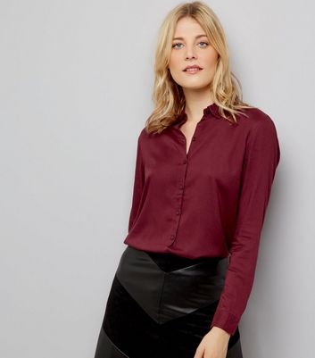 JDY Burgundy Open Back Shirt