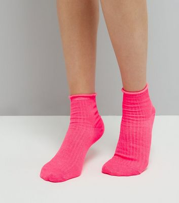 Pink Metallic Ankle Socks