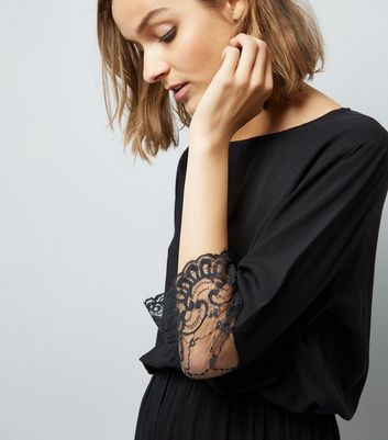 JDY Black Lace 3/4 Sleeve Dress