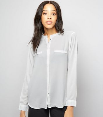 JDY White Long Sleeve Shirt
