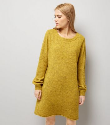 JDY Yellow Long Sleeve Dress