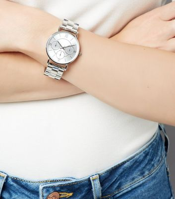 Silver Metallic Sports Watch