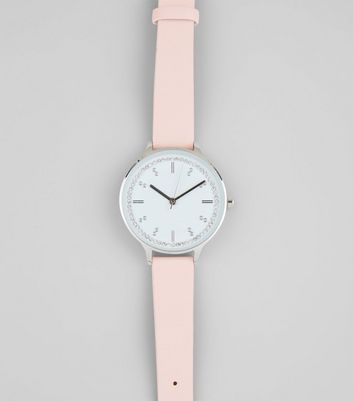 Pink Diamante Dial Watch