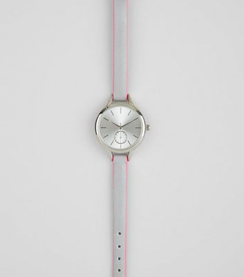 Neon Pink Edge Strap Watch