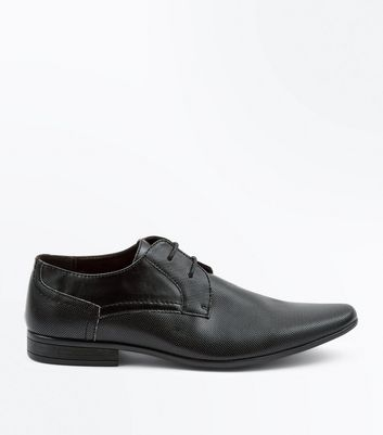 Black Perforated Texture Debry Shoes