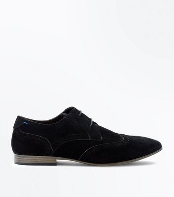 Black Suedette Brogues