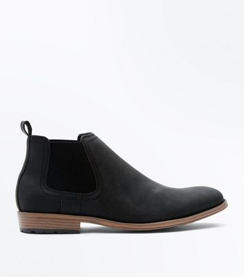 Black Contrast Sole Chelsea Boots